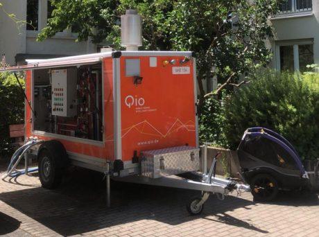 Qio im Einsatz: Mobile Heizzentrale sichert die Warmwasserversorgung