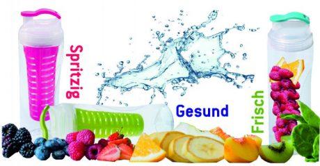 Trinkflasche Vitality Fresh bedruckt mit Logo